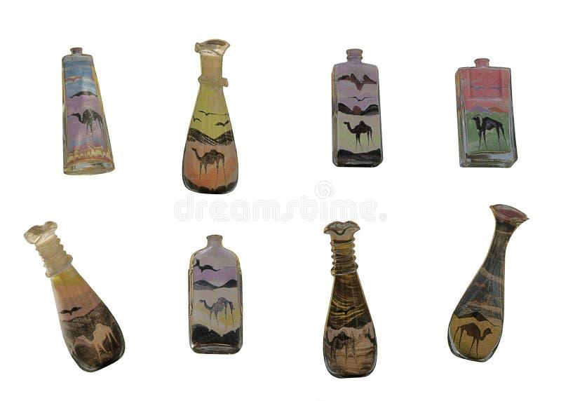 瓶埃及沙子纪念品 库存图片
