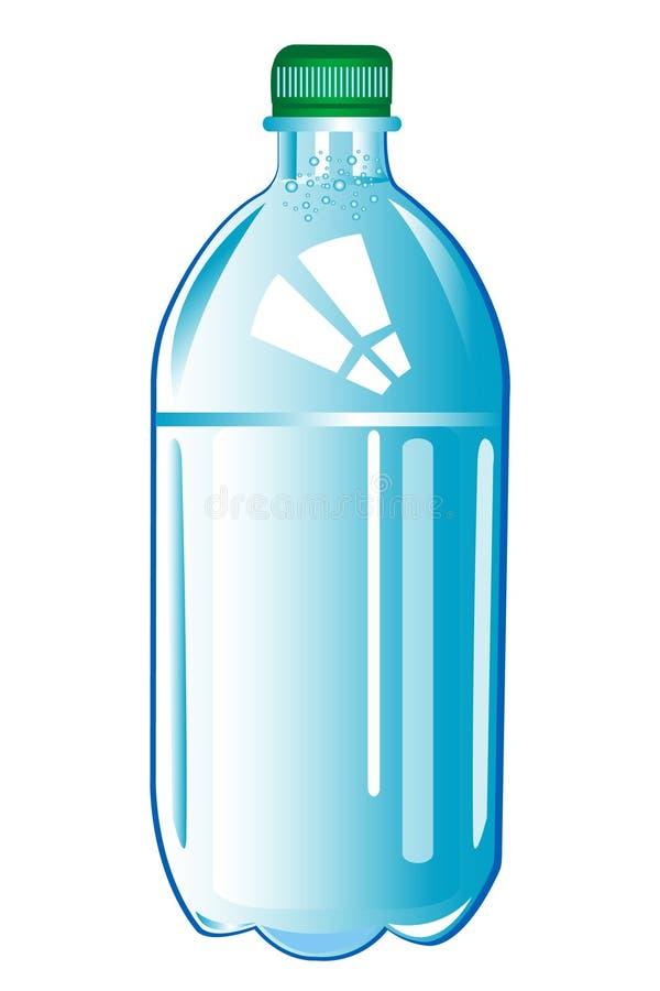 瓶塑料水 库存例证