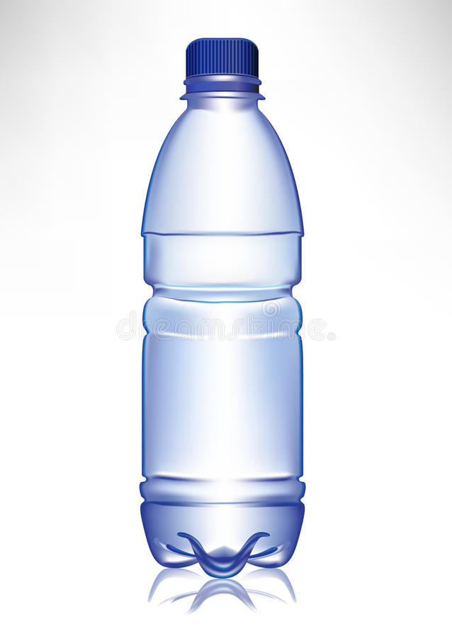 瓶塑料简单的小的水 向量例证