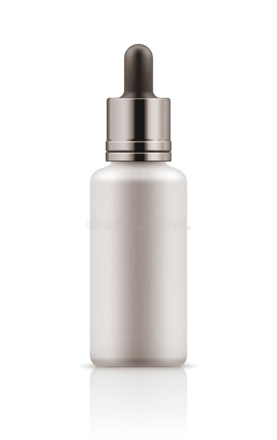 瓶大模型有吸管的 库存例证