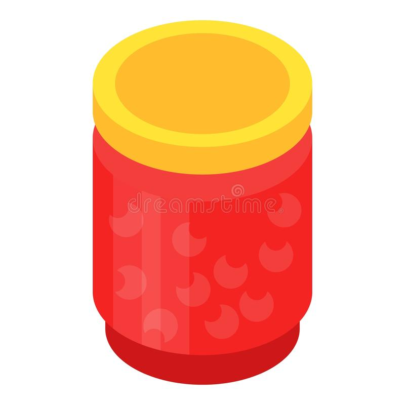 瓶子樱桃果酱象,等量样式 库存例证