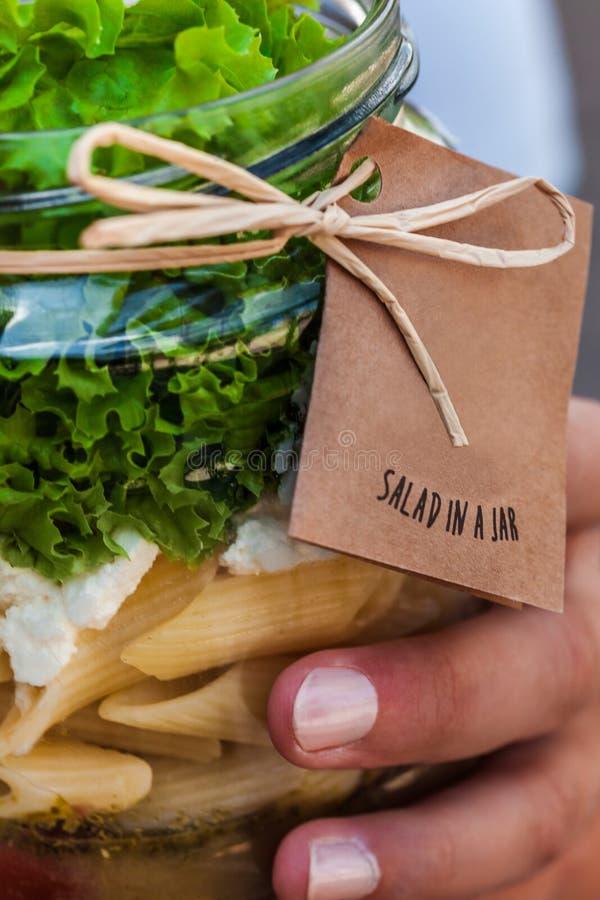 瓶子沙拉 免版税库存图片