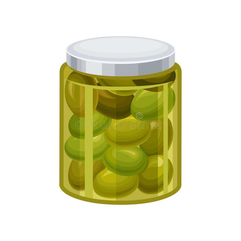 瓶子绿橄榄传染媒介例证 皇族释放例证