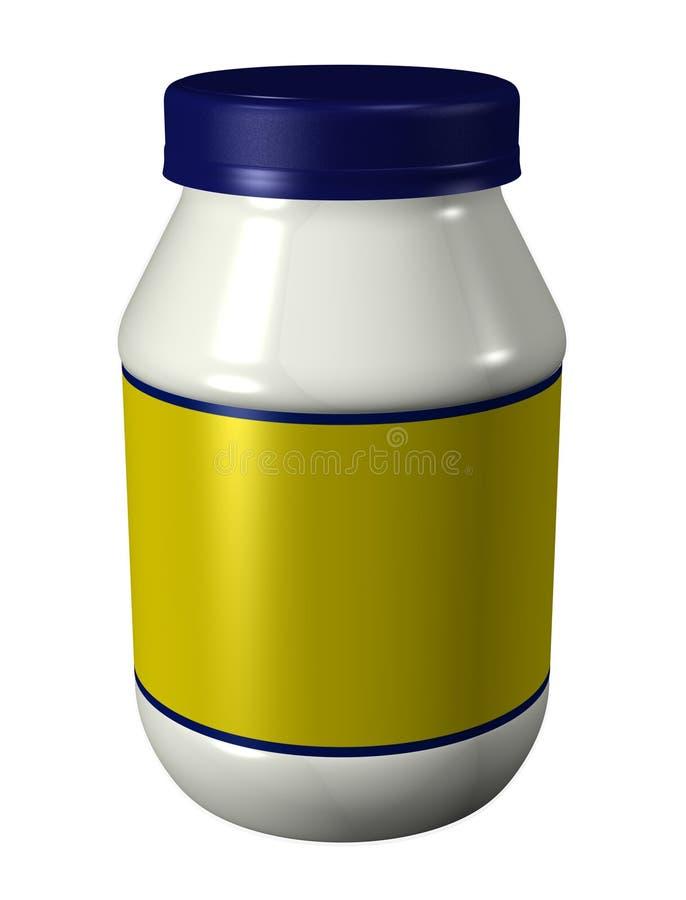 瓶子蛋黄酱 皇族释放例证