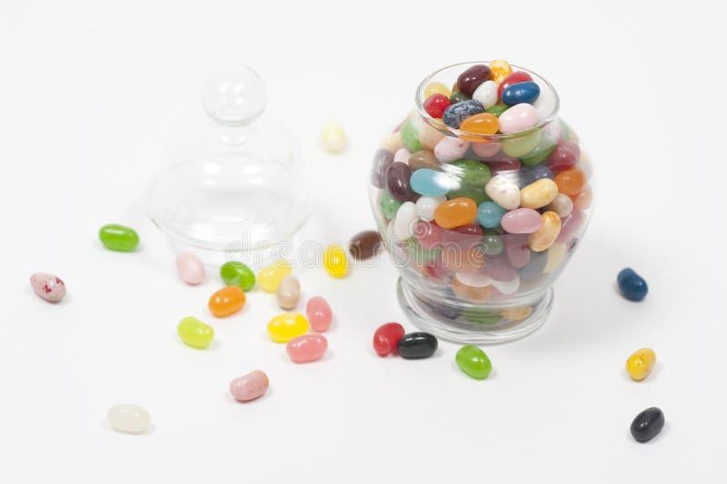 瓶子豆形软糖 图库摄影