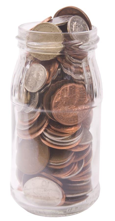 瓶子货币 库存图片