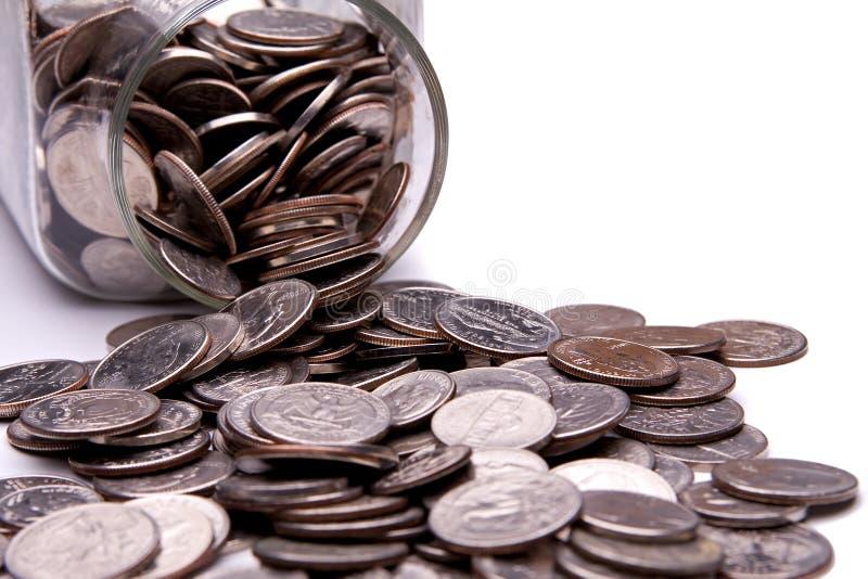 瓶子货币 免版税库存图片
