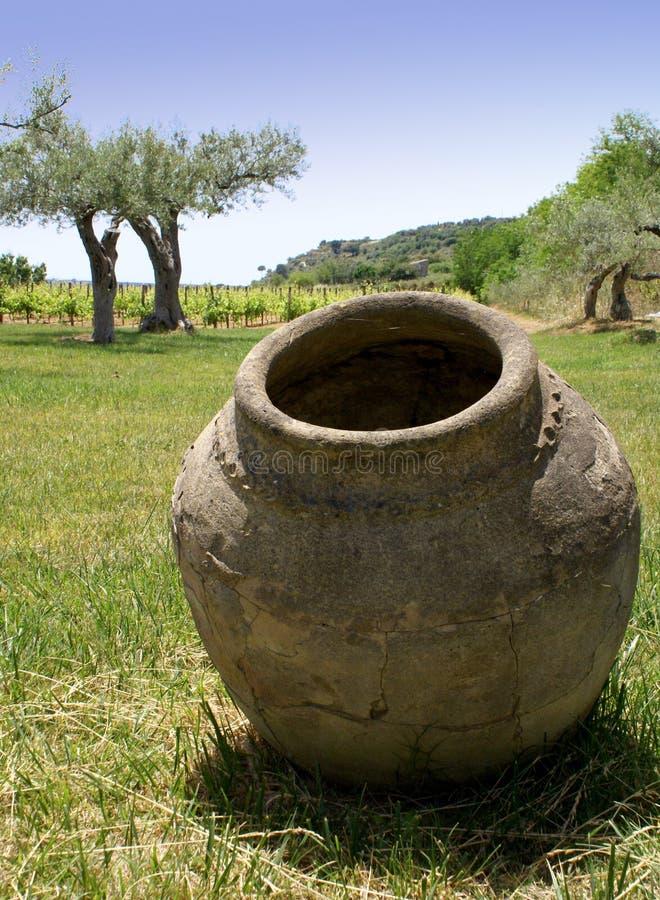 瓶子赤土陶器 图库摄影