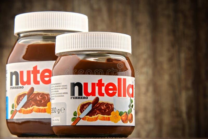 瓶子Nutella传播 库存图片