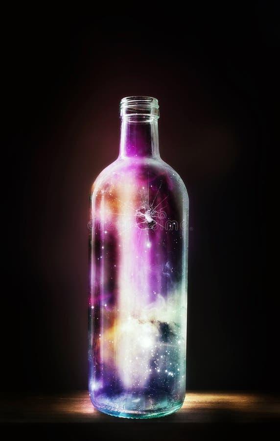 瓶宇宙 库存图片