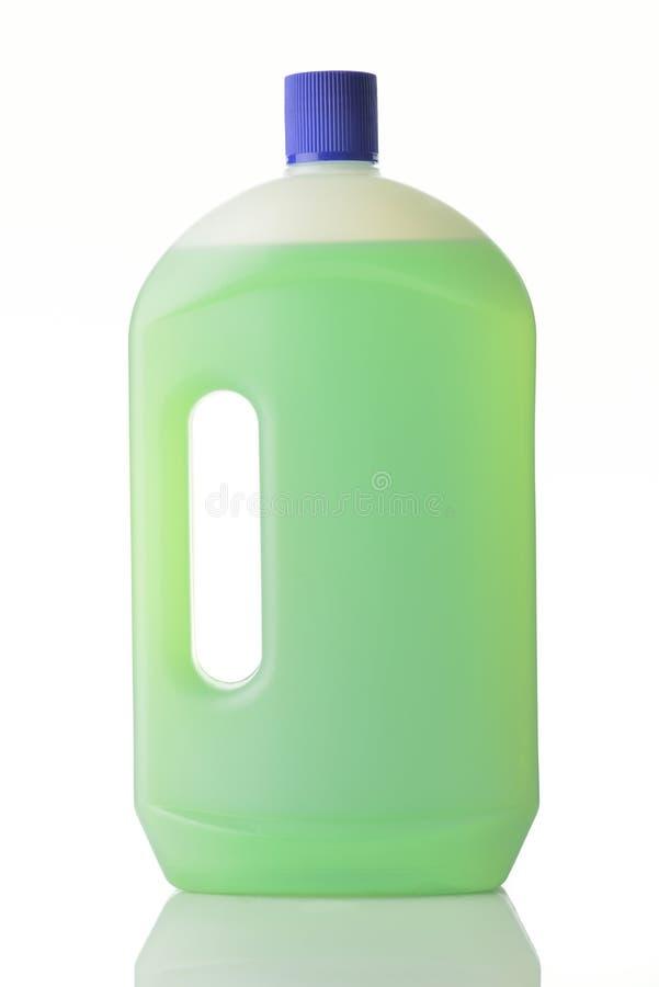 瓶家庭擦净剂 免版税库存照片