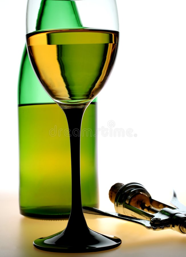 瓶拔塞螺旋玻璃绿色 免版税图库摄影