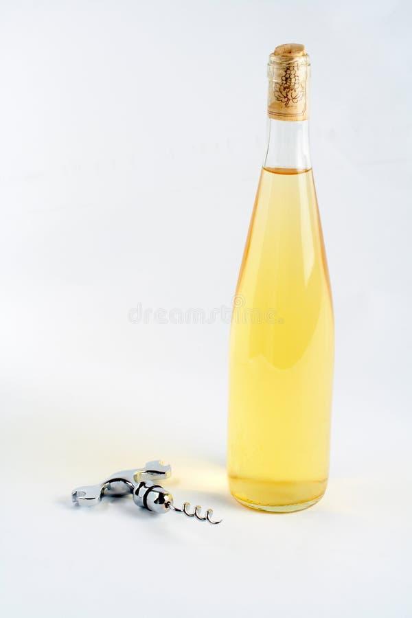 瓶拔塞螺旋酒 库存图片