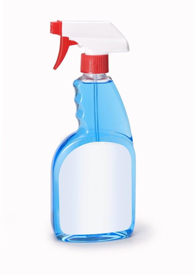 瓶擦净剂视窗 免版税图库摄影