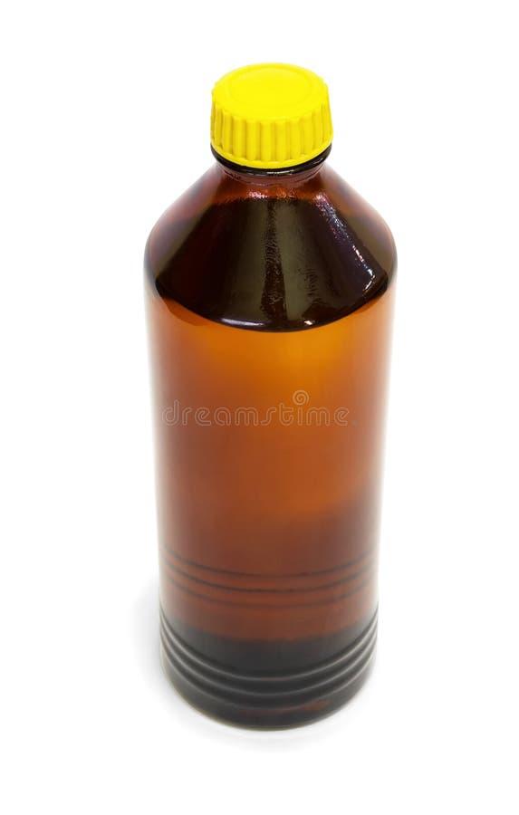 瓶有机溶液 库存照片