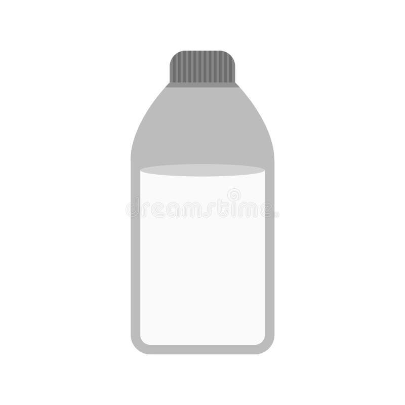 瓶查出的乳白色 向量例证
