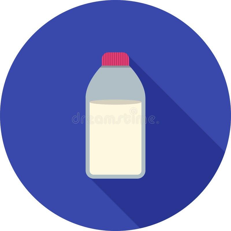 瓶查出的乳白色 库存例证