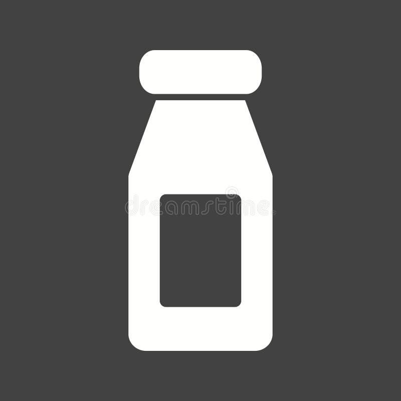 瓶查出的乳白色 皇族释放例证