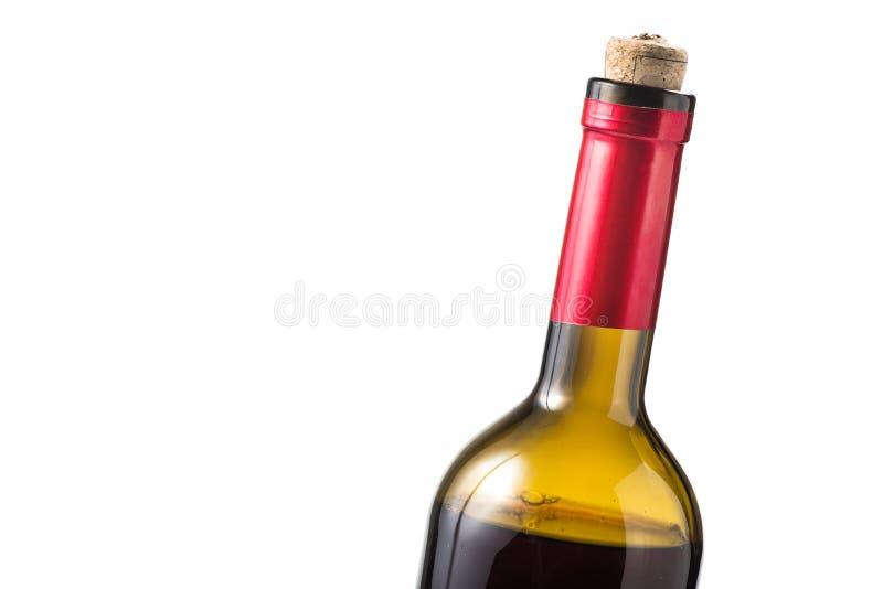 瓶查出的红葡萄酒 免版税库存图片