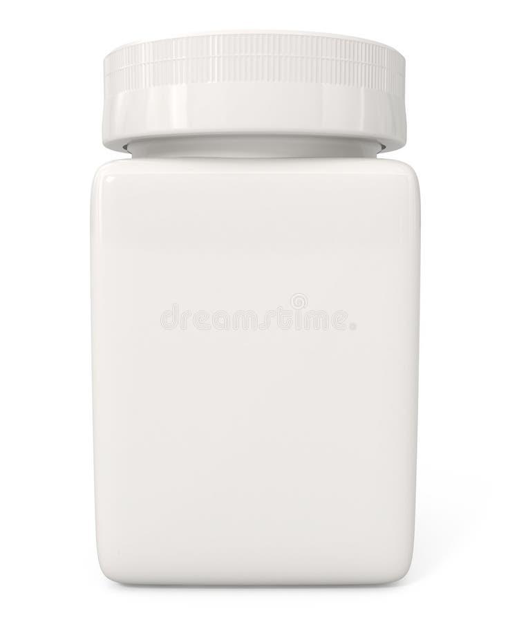 瓶查出的药片白色 库存例证