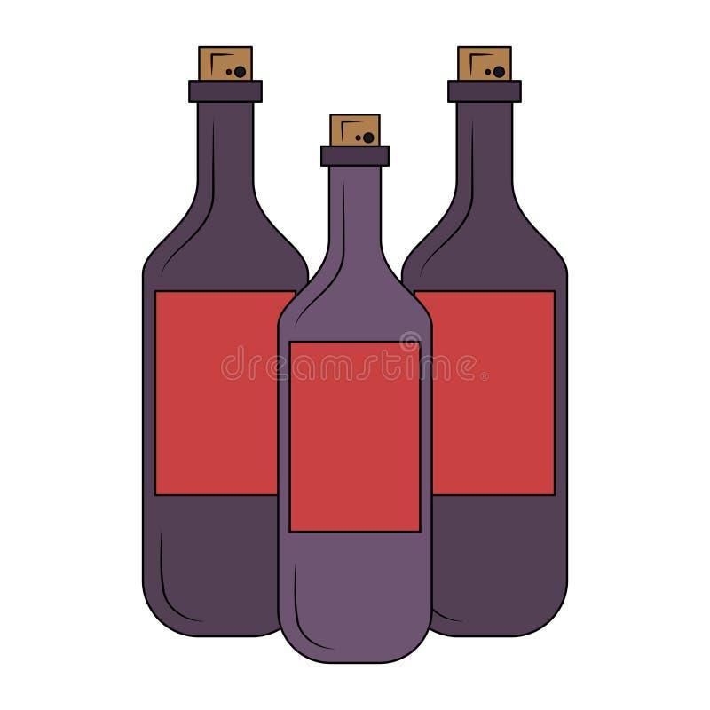 瓶查出的酒 向量例证