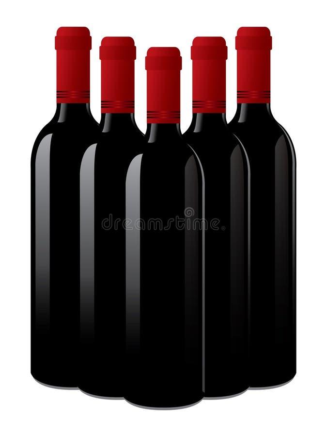瓶查出的酒 皇族释放例证