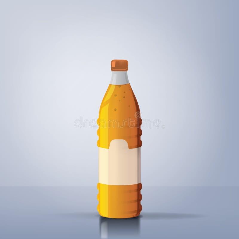 瓶汁液桔子 库存照片