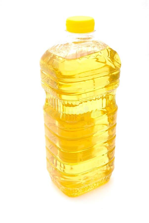 瓶油向日葵 免版税库存图片