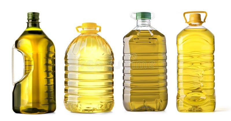 瓶油塑料 免版税库存照片