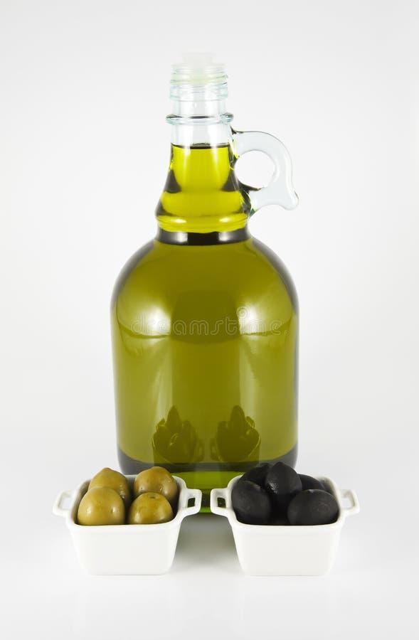 瓶油橄榄橄榄 图库摄影