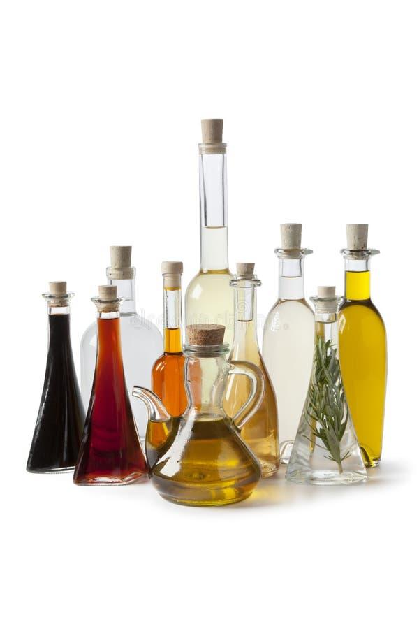 瓶油醋 图库摄影