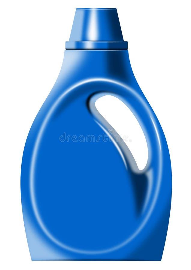 瓶洗涤剂洗衣店 向量例证