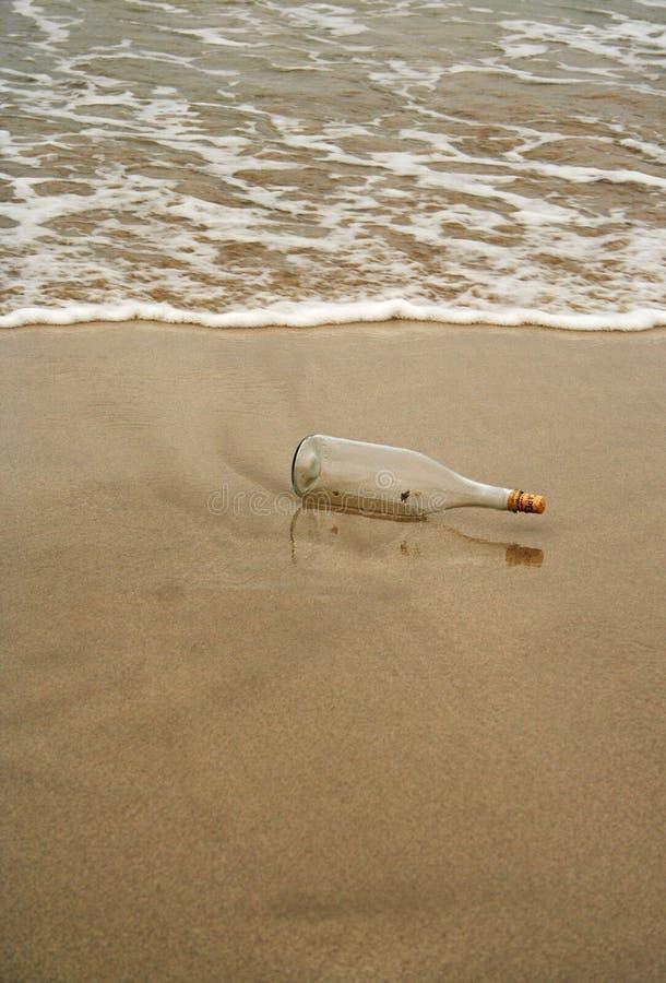 瓶消息 库存照片
