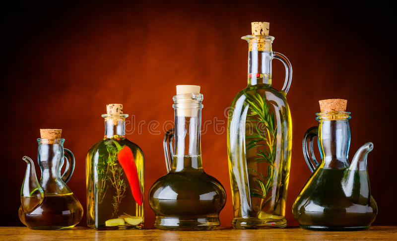瓶烹调用油 库存照片