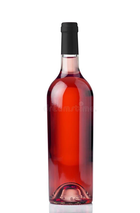 瓶玫瑰酒红色 免版税库存照片