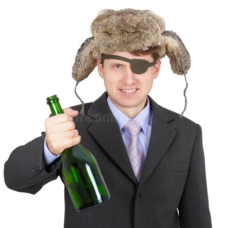 瓶现有量好客的农民俄语 库存照片