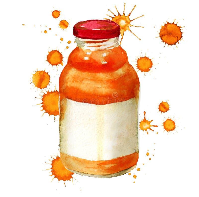 瓶用汁液 库存例证