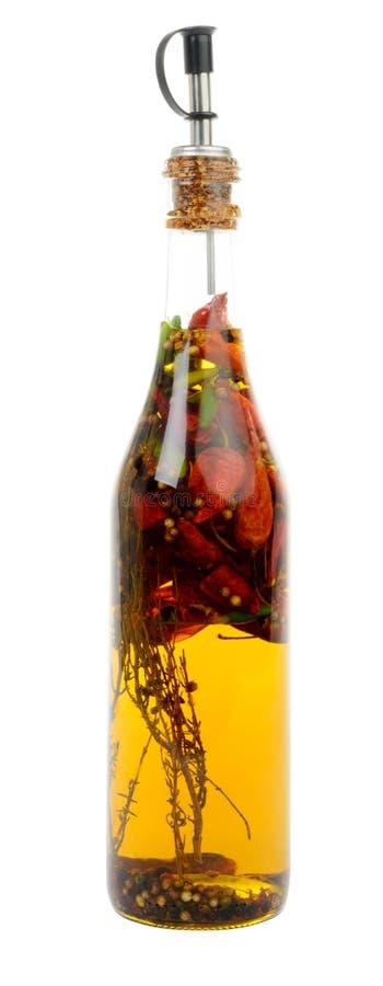 瓶用辣椒和芳香 库存照片