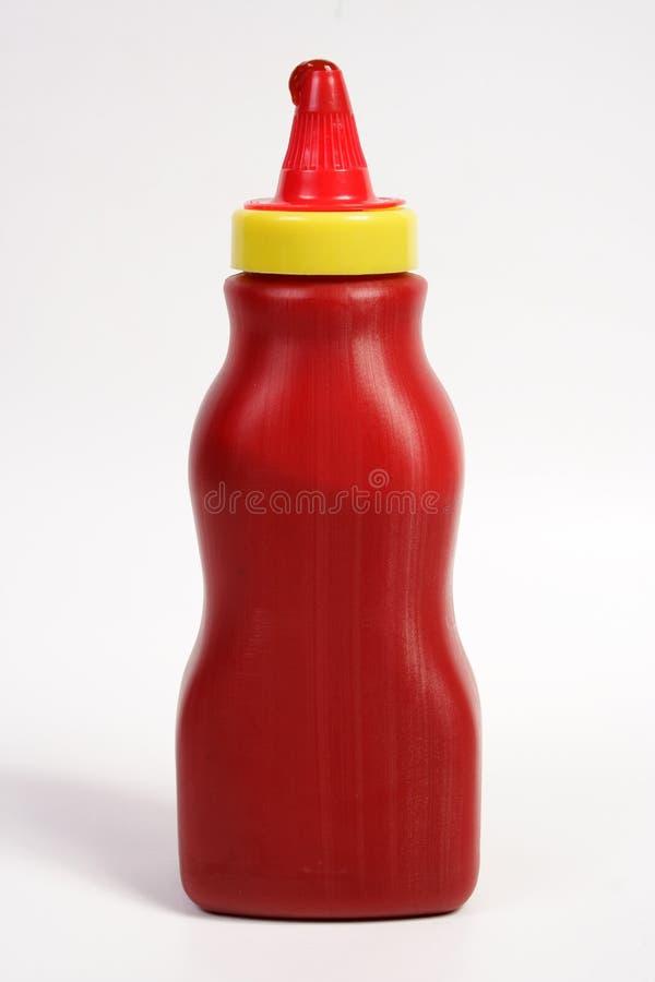 瓶番茄酱 库存图片