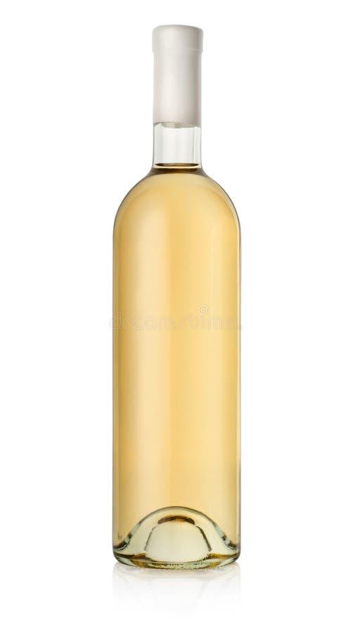 瓶白葡萄酒 图库摄影