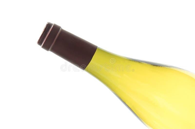 瓶白葡萄酒 免版税库存图片