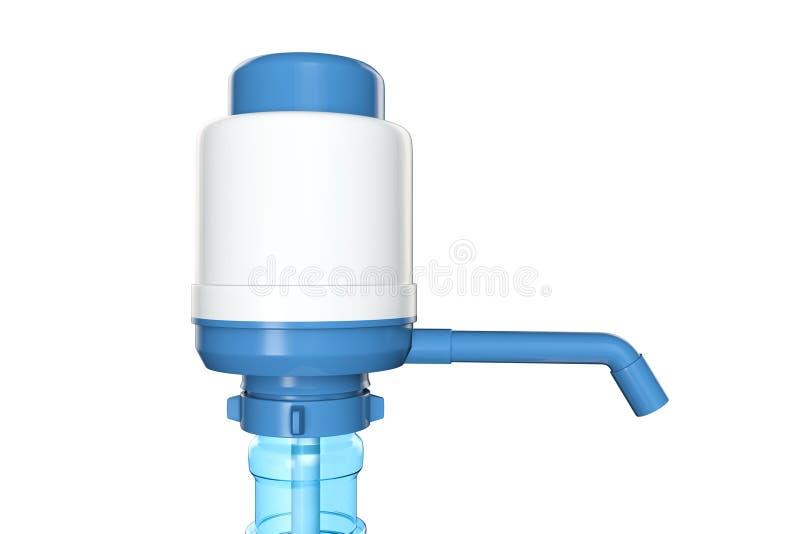水瓶的手工水泵 库存图片