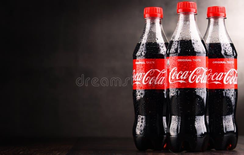 瓶碳酸化合的软饮料可口可乐 免版税图库摄影