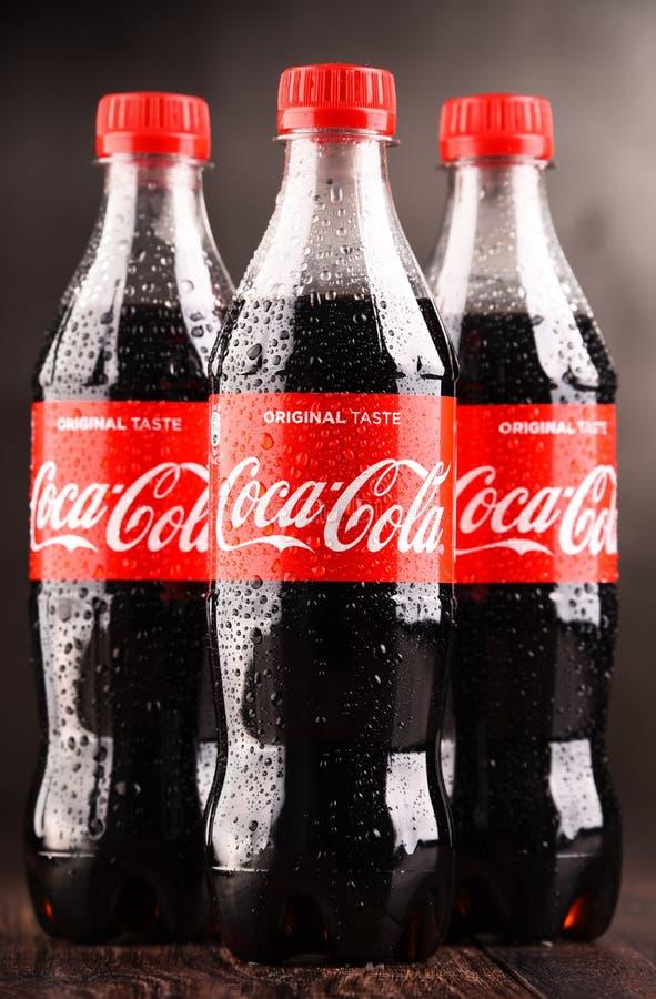 瓶碳酸化合的软饮料可口可乐 图库摄影