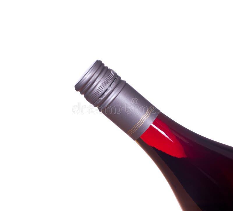 瓶红色螺旋盖酒 库存图片
