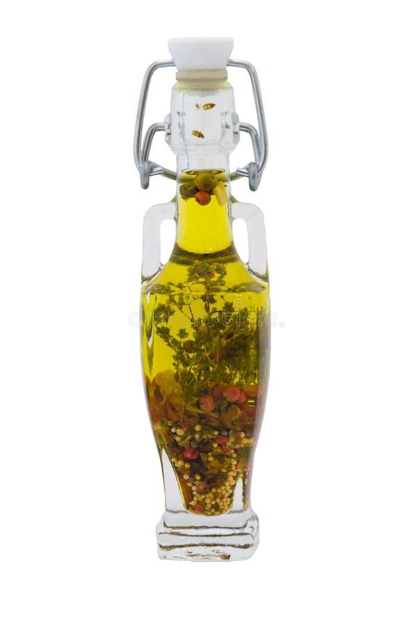 瓶草本查出上油橄榄 库存图片