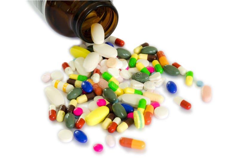 瓶药物孤立 库存照片