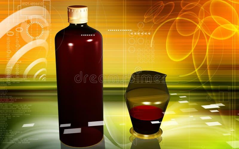 瓶评定的医学花瓶 皇族释放例证