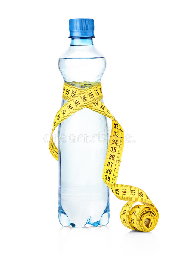 瓶评定磁带水 库存照片