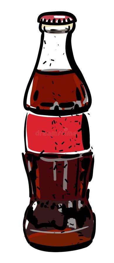 瓶象的动画片图象 焦炭饮料标志 皇族释放例证